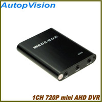 Wholesale Hd Dvr Cctv Card - New 1CH AHD HD MINI DVR Recorder HD 720P Support SD Card 128GB Real time 25 30fps 1Ch CCTV DVR Board Video Compression Motion Detection
