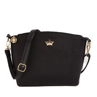 Wholesale Zipper Charms Wholesale - Wholesale-Charm in hands Women Messenger Bags Shell Shaped Crossbody multi-function Pattern Mini Bag With Imperial Crown Shoulder Bags