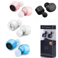 Wholesale Iphone Inear - X1T Mini Headset Twins True Wireless Earbuds Bluetooth Earphones Handsfree InEar earphone for iphone samsung android phone