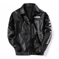 Wholesale Force Leather Jacket - PU Leather Jacket Men Fashion Coats Air Force Leather Flight Jacket Male Streetwear Mens Leather Jacket Vintage