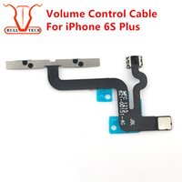 "Wholesale Iphone Cable Silent Switch - Volume Button Control Connector Flex Cable For iPhone 6s Plus 5.5"" Mute Lock Switch Bottons Mic Silent Ribbon Replacement Replace Parts"
