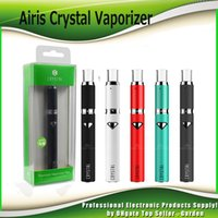Wholesale Rechargeable Vaporizer - Authentic Airistech Airis Crystal Heating Wax Pen Vaporizer Starter Kits 500mAh Rechargeable Battery Top Airflow Wax Atomizer 100% Genuine