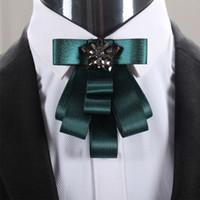 buket yastıkları toptan satış-Mantieqingway Iş Papyon Smokin Papyon Kravat Damat Düğün Buket Moda Polyester Erkekler için Mavi Kravatlar Bağları Gravata