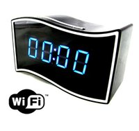 Wholesale Wholesale Mini Clocks - New arrival Wireless WiFi Mini clock camera Real Full HD 1080P hidden camera IR night Version Digital clock video recorder Mini DV