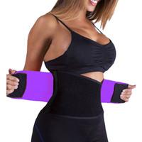 Wholesale Waist Tummy Trimmer Body Shaper - Wholesale- Women Waist Trimmer Postpartum Corset Belt Firm Slimming Belly Waist Trainer Girdles tummy Fitness Body Shaper plus size XS XXL