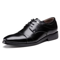 Wholesale Classic Leather Mens Shoes Oxford - Dress Shoes For Men Microfiber Genuine Leather Mens Business Fashion Classics Leather Shoes Male Slip-On Round Toe Men Office Shoes