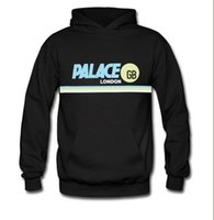 Wholesale Western Fashion Style - Palace Hoodies 2017 Spring Autumn Women Man Western Style Hip Hop Fashion Striped Printed 100% Cotton skateboards palace Hoodies