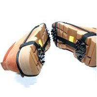 Outdoor 18-Stud Universal Ice Non-slip Snow Shoe Boot Spikes Apertos Cleats Crampons Escalada de Inverno Anti-slip Shoes Cover
