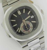 Wholesale Transparent Digital Watch - Luxury Men's stainless High Quality Swiss ETA 7750 Automatic Movement Nautilus 5980 1A black Dial Mechanical Transparent Mens Watches