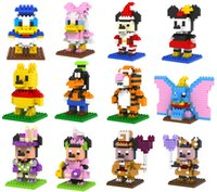 Wholesale Micky Mouse Plastic - 12 styles LOZ Kawaii Cartoon Mouse Bear Duck Dog 3D Educational Building Bricks Blocks Compatible Legoe micky Figures Toys