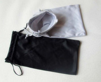 Wholesale Microfiber Sunglasses Bags - 100PCS 9*17cm Black Grey Microfiber Sunglasses eyewear Pouch Spectacle Glass Cloth Bag Pouch custom glasses pouch