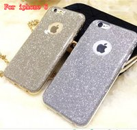 Wholesale 6g tpu clear case for sale - Ultrafine clear rubber soft glitter stickers TPU PC For iphone plus G galaxy J5 prime case phone protection shell opp bag packing