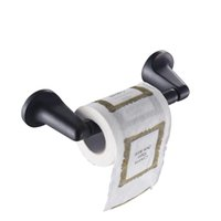Wholesale Roll Tissue Dispenser - New Toilet Tissue Roll Holder Paper Holders Wall-mounted Stainless Steel Kitchen Dispenser Bathroom Accessories Cavoli 61607a Black