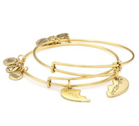 """Wholesale Charity Bracelets - 2017 Christmas gift for man and women Alex and Ani """"Charity By Design"""" Best Friends Bangle Bracelet, Set Of 2"""