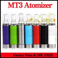 buharlaştırıcı yerine fitil toptan satış-Evod MT3 Atomizer Ego Clearomizer Yedek Alt Isıtma Fitil Bobinleri 2.4 ML Evod E Sigara Pil Blister Için Tankı Buharlaştırıcı Kiti
