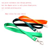 Wholesale Metal Badge Printing - 2cm polyester lanyard employee's card Work permit card lanyard with metal lobster hook badges holder can print customize your company design
