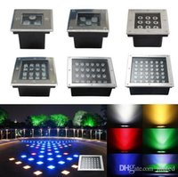 Wholesale LED Underground Light Sqaure W W W W W W W W W IP67 V LED Deck inground outdoor Garden Lights landscape lamp