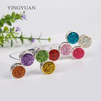 Wholesale Asian Hijab Wholesalers China - XT111 candy colors magnet brooches Shiny broches fashion vintage brooches for women hijab accessories
