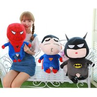 Wholesale Presents Batman Figure - 30 cm the avengers alliance Q version of batman superman plush toy doll birthday present the United States team