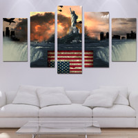 5 pz / Set Framed HD Printed War e Freedom Liberty Wall Art Canvas Stampa Poster Canvas Pictures Pittura ad olio astratta