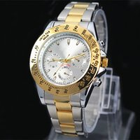 Wholesale Modern Battery - Classic model man aaa Watch Luxury gold Stainless steel Quartz wristwatches Famous designer popular modern watch Male clock High quailty