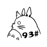 totoro aufkleber großhandel-Coole Grafiken Cartoon Totoro Vinyl Auto Aufkleber personalisierte Auto Styling Aufkleber Decals JDM
