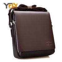 Wholesale Cross News - Wholesale- Y-FLY 2016 News Hot Sale Kangaroo Leather Men Messenger Bags Business Men Shoulder Bags Handbags Casual Men's Travel Bags A0002