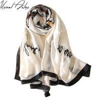 Wholesale Pure Silk Scarf Hijab Women Luxury Brand Soft White Foulards Shawls Plus Size Hijab Scarves cm cm SFN083