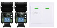 Wholesale Digital Wireless Remote Power Switch - Wholesale- New digital Remote Control Switch DC12V 2* Receiver Wall Transmitter Wireless Power Switch 315MHZ Radio Controlled Switch Relay
