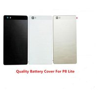 Wholesale Door Lens Camera - Battery Back Cover For Huawei P8 Lite Door case For HUAWEI P8 Lite housing replacement + Back Camera Glass Lens Case