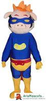 Wholesale Mascotte Pig - Pirate Pig fur mascot costume outfit dress animal mascots advertising customized mascotte