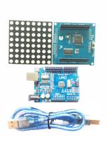 Wholesale Dot Matrix Led Rgb - IKEYES T2 Arduino DIY KIT the color shield RGB Led Matrix Dot Panel colorduino Arduino UNO Development Platform