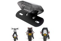 Wholesale Taillights For Motorcycles - Electric multi-purpose taillights for Harley motorcycle parts modified LED brake light black