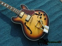 Wholesale sunburst 335 - Custom Classic 335 Honey Jazz Guitar with Tremolo New Arrival From China