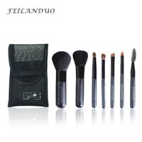 Wholesale Hair Soap - Feilanduo Professional Makeup Brush Set 7pcs High Quality Wool Fiber Make Up Tools Gift with Wash Soap