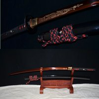 spring steel sword - battle ready japanese katana bamboo tsuba spring steel RDE Blade sharpened sword
