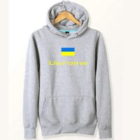 Ukraine Flagge Hoodies Nation Out Arbeit Schweiß Hemden Land Fleece Kleidung Pullover Sweatshirts Outdoor-Sport-Mantel Gebürstete Jacken