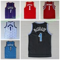 Wholesale Shirts Basketball - Best 1 Tracy McGrady Jersey Throwback Shirt Rev 30 New Material Tracy McGrady Uniforms Retro Team Road Black Blue White Red Purple Quality