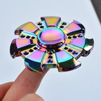 Wholesale Rainbow Rose Vortex Unique Design EDC Aluminum Hand Spinners for Adults Fidget Toys Stress Relive Spiral