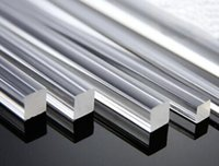 Wholesale Acrylic Rod Clear - 4pcs 2mm * 250mm Square Clear Acrylic Rod Solid Perspex Bar Model Craft