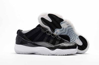 Wholesale Air Drop - Drop Shipping Basketball Shoes Air Retro 11 Low Barons Men Basketball Sports Shoes Ship with box size 41-47