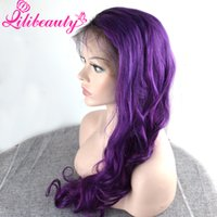 Wholesale Light Purple Curly Cosplay Wig - lili Women's Fashion Rose Purple Long Hair Body Wave Wigs Curly Hair Cosplay Dress Full lace Wigs