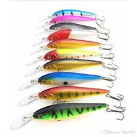 Wholesale Water Bass - High Quality Mix Colors 11cm 10.5g Hard Bait Minnow Fishing Lures Bass Fresh Salt Water With Hook Free Shipping