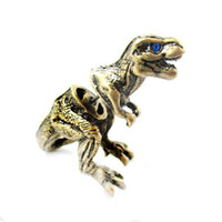 Wholesale Fashion Vintage Dinosaur Ring Anel Boho Chic Adjustable Animal Dragon Rings For Women Men Jewelry Best Gift jl