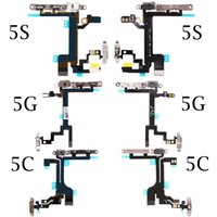 Wholesale Iphone 5s Power Flex - Top Quality New Power Button On Off Flex Cable For iPhone 5 5G 5C 5S Mute Volume Switch Connector Ribbon Parts