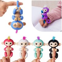 Wholesale Wholesale Toy Sales - Pre-sale Colorful Finger Monkey Fingerlings Monkey 6 Colors Electronic Smart Touch Fingers Monkey For Child Adult Toys 50pcs OOA2834