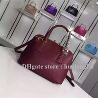 Wholesale Discount Handbags Totes - Handbag Women Genuine Leather Brand designer shoulder bag new fashion 2017 luxury famous promotiional discount lady tote M144N
