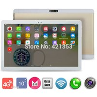 Wholesale Slim Gsm Tablet - Tablet PC Octa Cores 10 inch 2560*1600 IPS RAM 4GB ROM 64GB 8.0MP WIFI 3G Dual sim card Wcdma+GSM Tablets PCS Android6.0