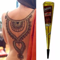Wholesale Tattoo Draws - Wholesale- High Quality Mini Natural Indian Tattoo Henna Paste for Body Drawing Paint Tattoo Ink Black Henna Free Shipping