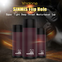 Wholesale Discreet Sex - SINMIS Flip Hole Super Tight Deep Throat Discreet Oral Sex in a Cup Male Masturbator, Adult Sex Toys for Male Products q1106